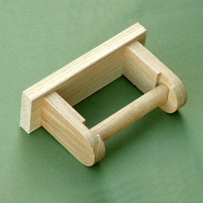 Simple Oak Toilet Roll Holder
